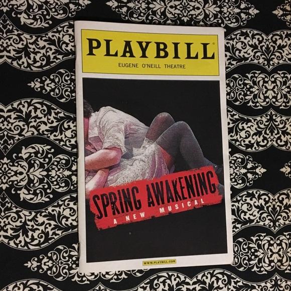 b75c01f9c9d1 Other | 1 Hr Sale Spring Awakening Playbill | Poshmark